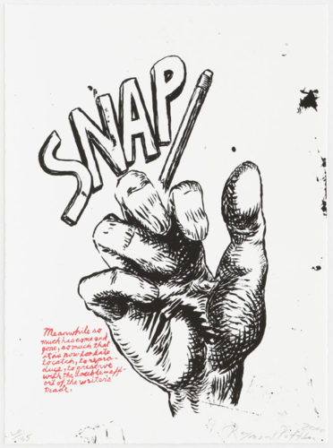 Untitled (snap…), From Plots On Loan I by Raymond Pettibon at