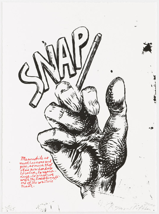 Untitled (snap…), From Plots On Loan I by Raymond Pettibon