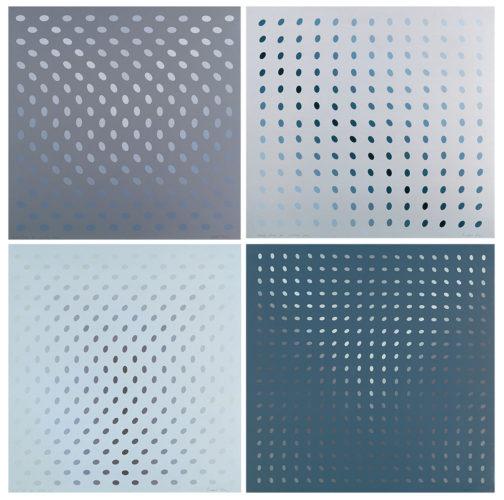 Untitled (nineteen Greys) by Bridget Riley at