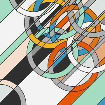 1980 [rings] by Sarah Morris