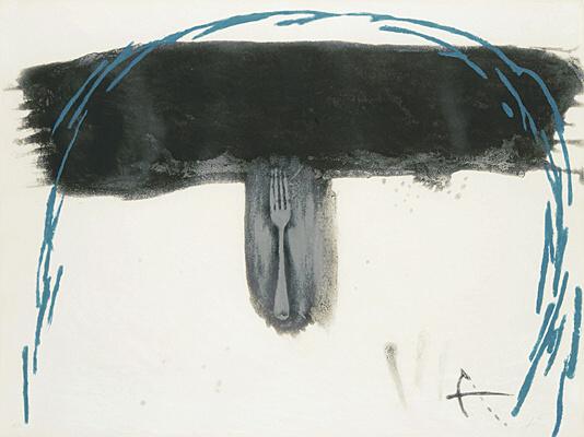 Arc blau by Antoni Tapies