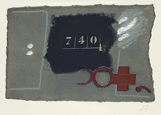 740 by Antoni Tapies