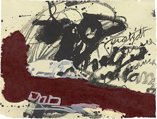 Roig I Negre 5 by Antoni Tapies