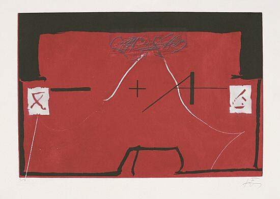 """Untitled From """"el Rei De La Màgia"""" by Antoni Tapies"""