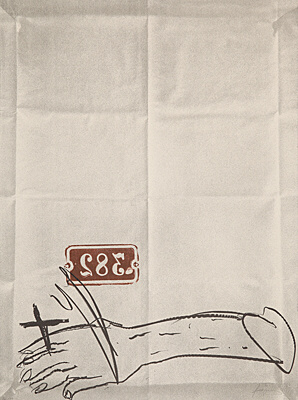 Bras et chiffres by Antoni Tapies at Boisseree, Galerie (IFPDA)