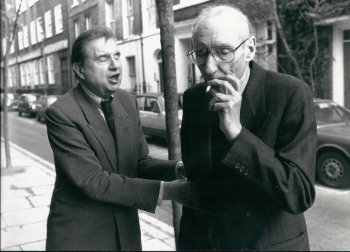 Francis Bacon And William S. Burroughs, London, 1989 by William Burroughs at