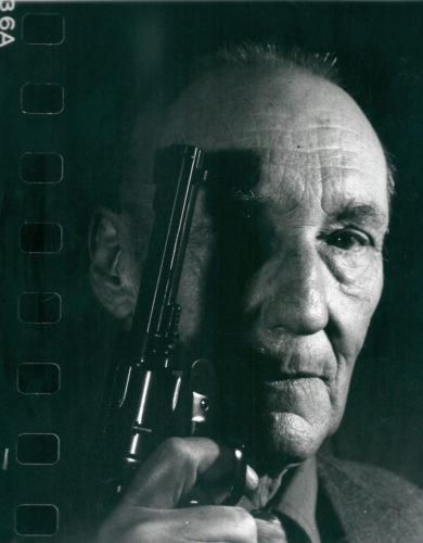 William S. Burroughs With Gun by Gottfried Helnwein