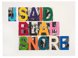 Blah by John Baldessari