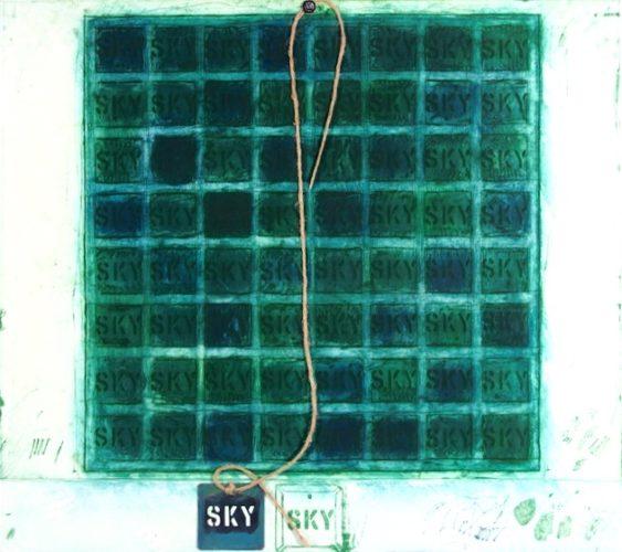 Sky Mantra by Joe Tilson at