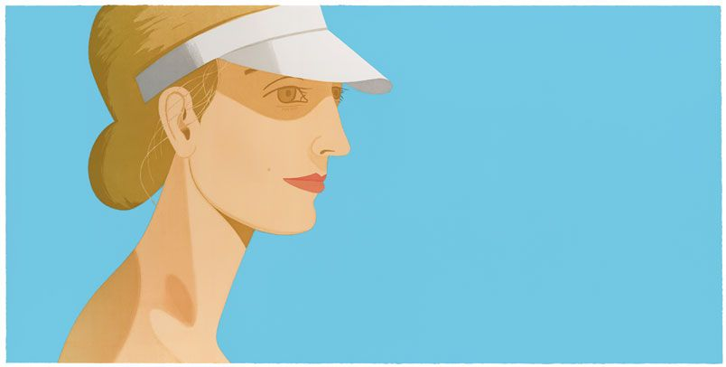 White Visor by Alex Katz