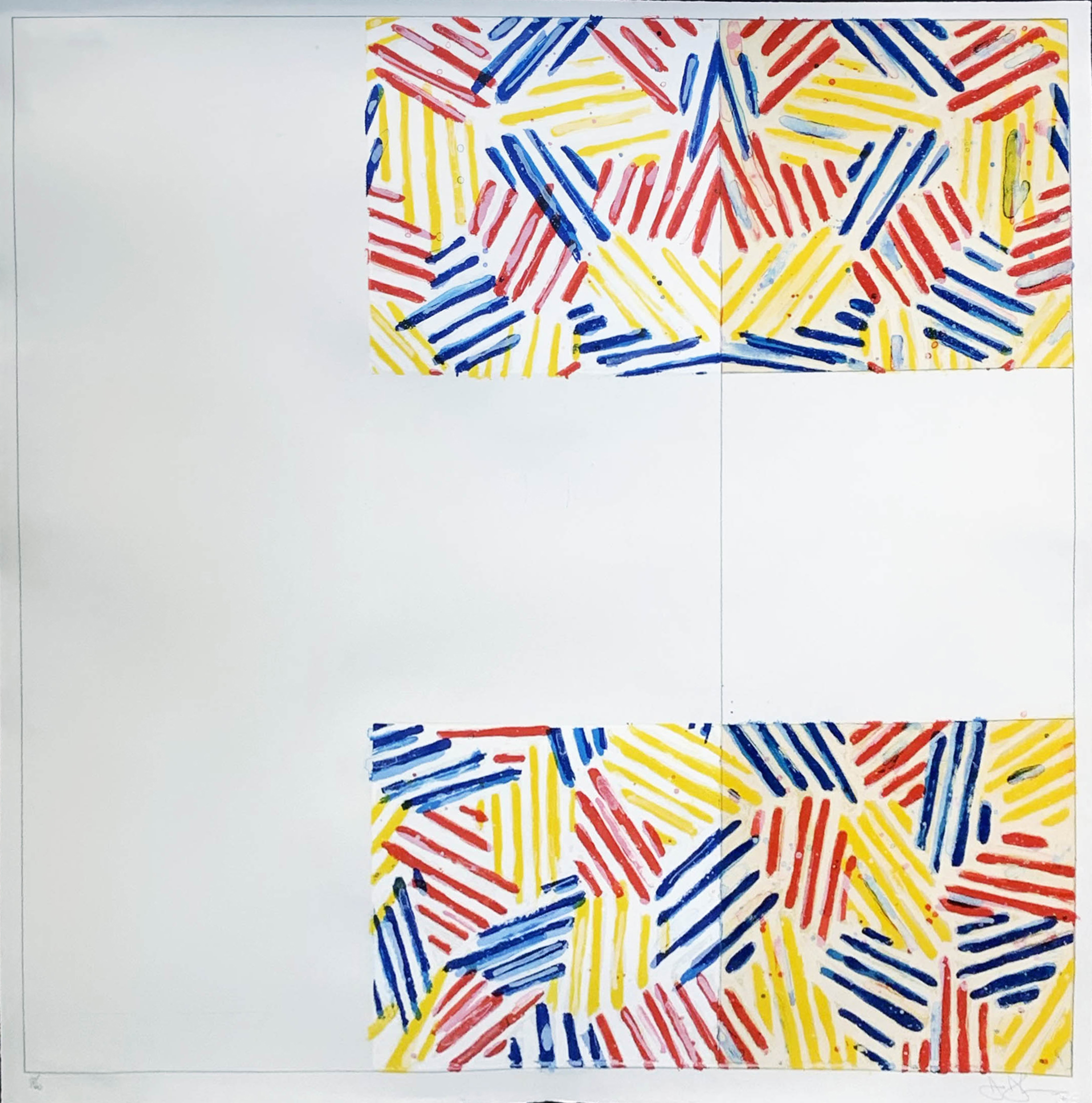 #2 (after Untitled 1975) by Jasper Johns