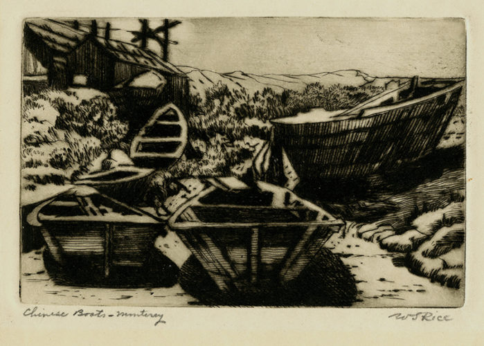 Chinese Boats – Monterey by William Seltzer Rice at