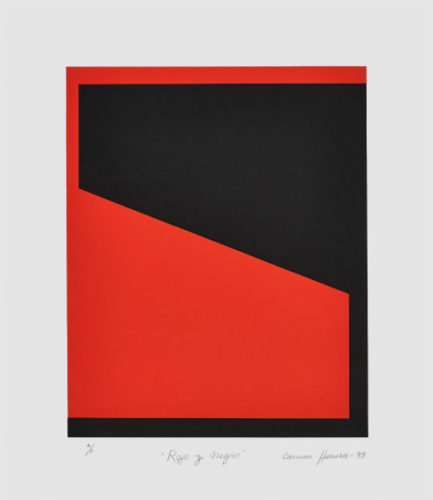 Rojo Y Negro (Red And Black) by Carmen Herrera at