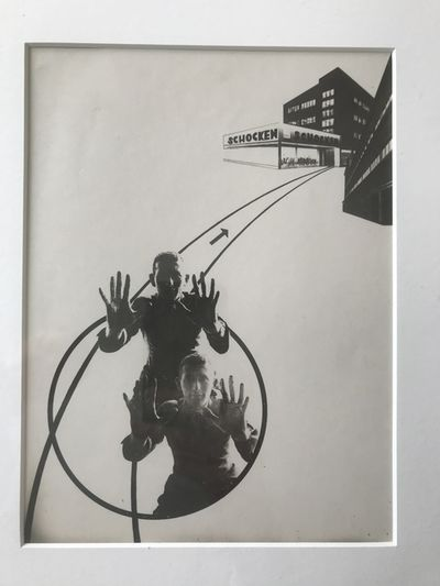 Advertisement For Shocken Department Store (variation Of The Law Of The Series) by Laszlo Moholy-Nagy