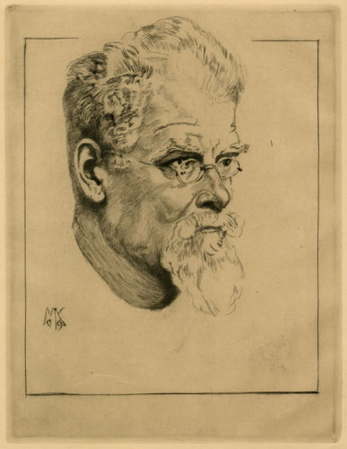 Selbstbildnis Mit Brille (self-portrait With Glasses) by Max Klinger at