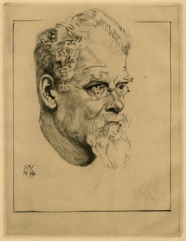 Selbstbildnis Mit Brille (self-portrait With Glasses) by Max Klinger