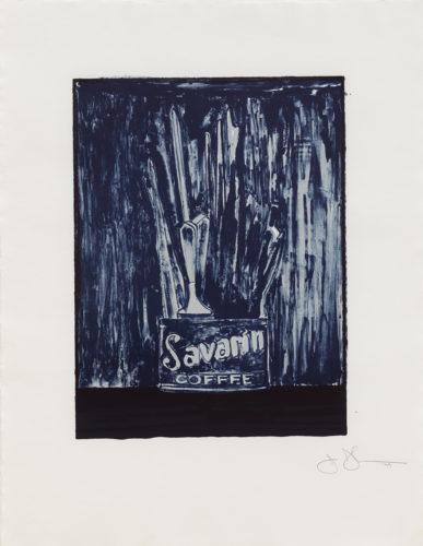 Savarin 6 (blue) by Jasper Johns