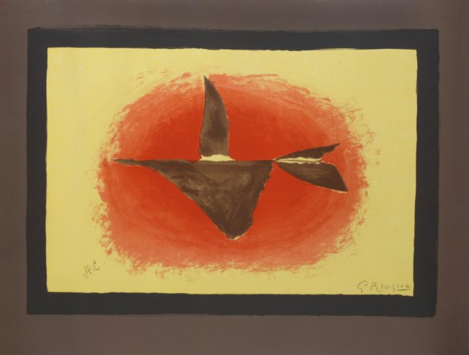 Au Couchant. Sunset. Oiseau No Xvi by Georges Braque at Georges Braque