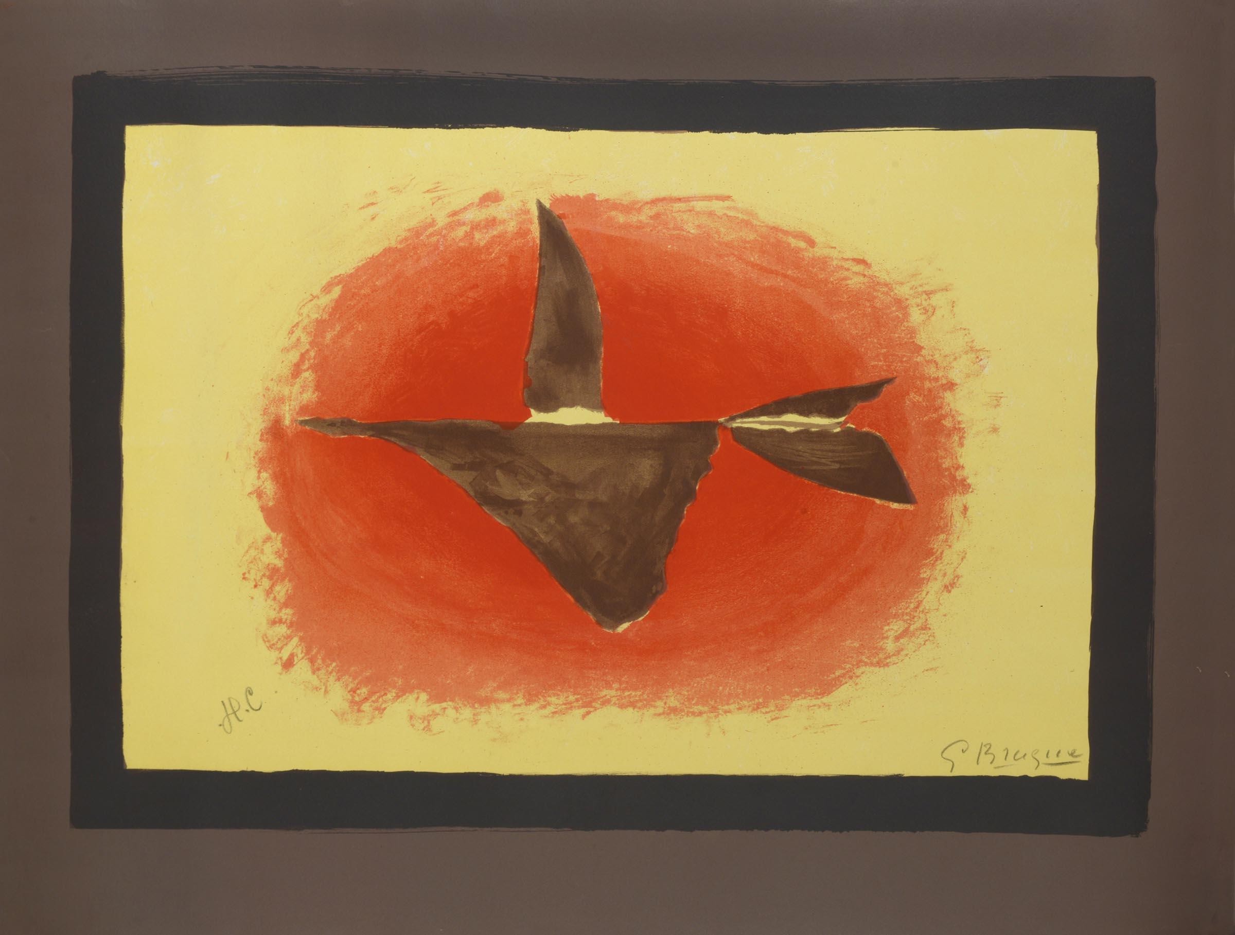 Au Couchant. Sunset. Oiseau No Xvi by Georges Braque
