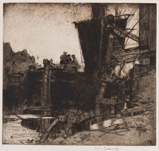 Barques A Bruges by Frank Brangwyn at