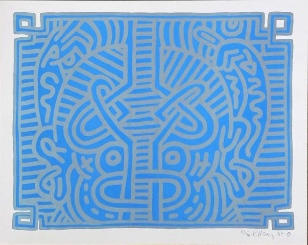 Chocolate Buddah #1 by Keith Haring