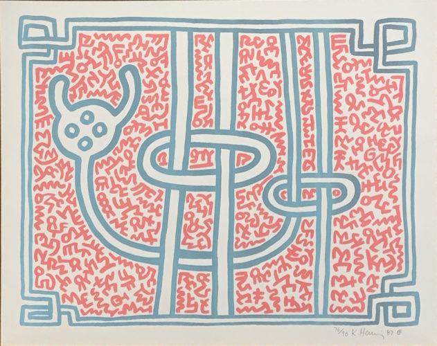 Chocolate Buddha #3 by Keith Haring