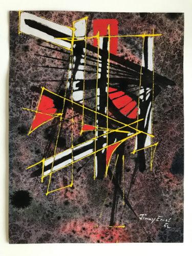 Untitled I (red/black) by Jimmy Ernst