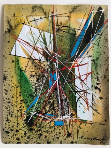 Untitled Ii (yellow/green) by Jimmy Ernst