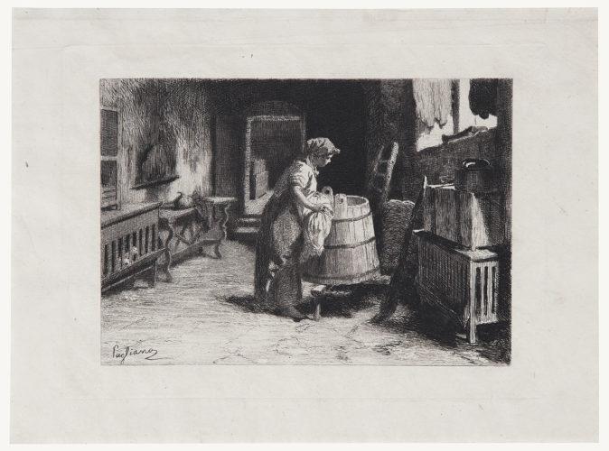 The Laundry by Eleuterio Pagliano