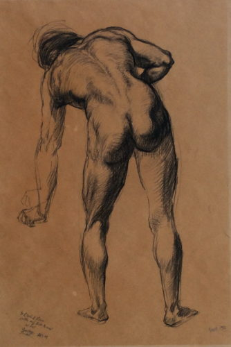 Nude Male Figure by George Grosz at