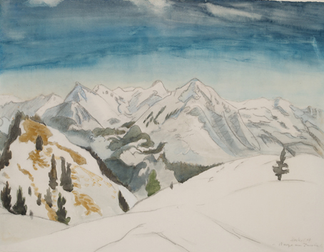 Berge Am Inntal by Erich Heckel at Galerie Henze & Ketterer & Triebold