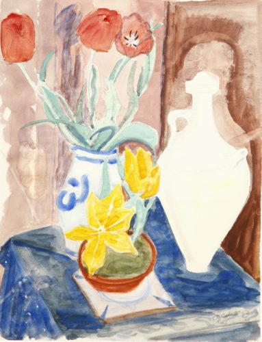 Stillleben Mit Blumen Und Arabischem Krug by Erich Heckel at Galerie Henze & Ketterer & Triebold