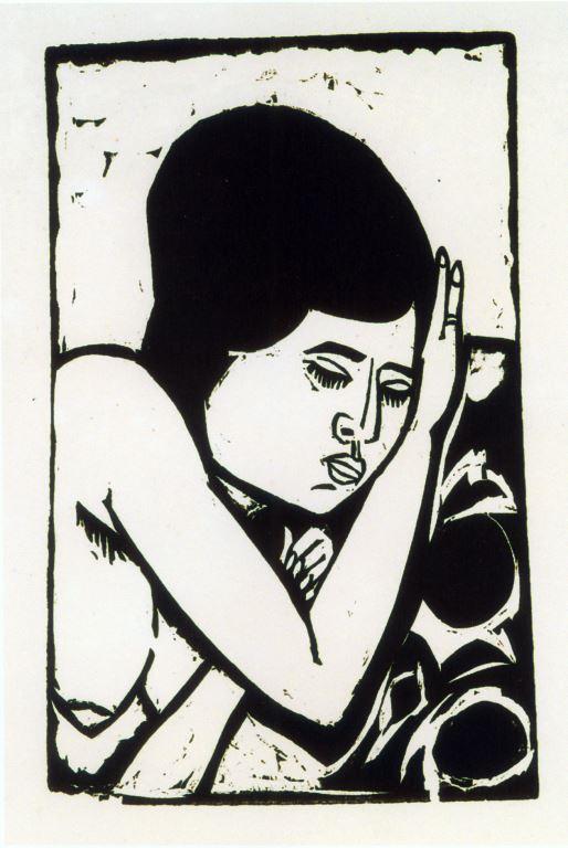 Brustbild Eines Liegenden Aktes (dodo) by Ernst Ludwig Kirchner