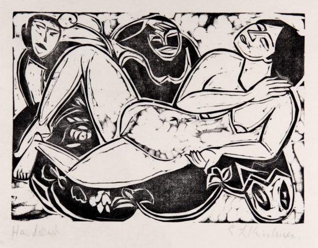Liegender Akt by Ernst Ludwig Kirchner at