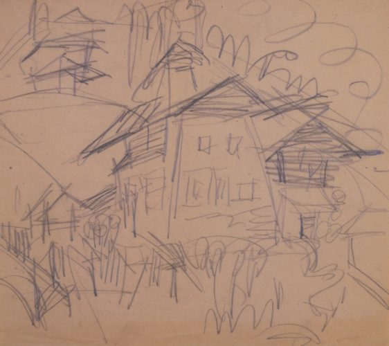 Haus In Wiesen by Ernst Ludwig Kirchner
