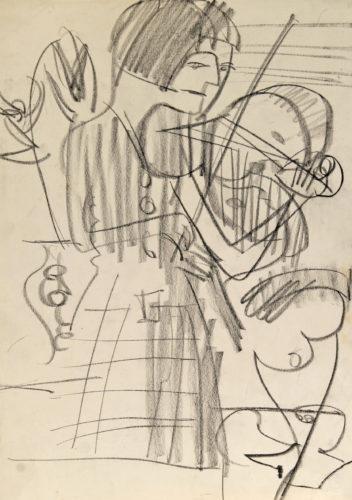 Die Violinistin by Ernst Ludwig Kirchner