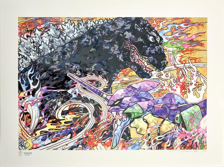 Homage To Director Hideaki Anno: Godzilla Resurgence & Evangelion by Takashi Murakami