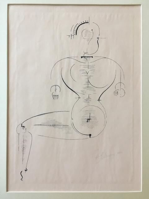 """Figur Von De Seite From Bauhaus Portfolio """"figurine Of The Page"""" by Oskar Schlemmer"""
