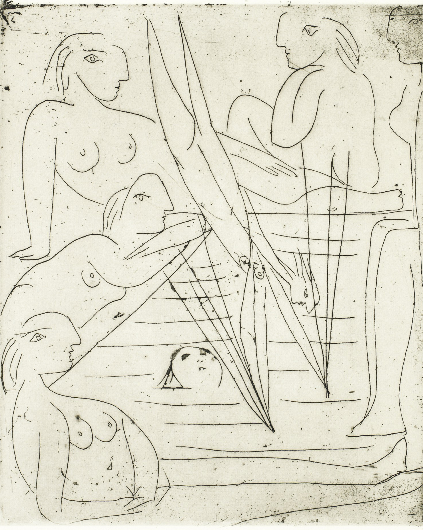 La Baignade by Pablo Picasso