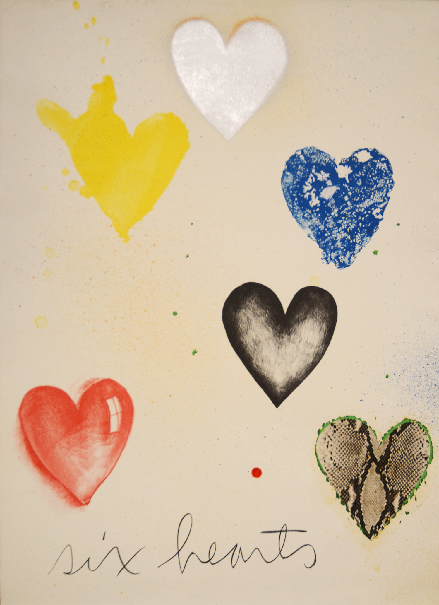 Six Hearts by Jim Dine