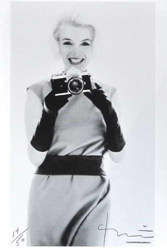 Marilyn With Nikon by Bert Stern at Bert Stern