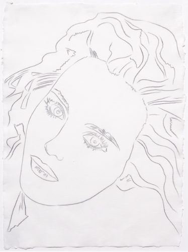 Portrait of Isabelle by Andy Warhol at