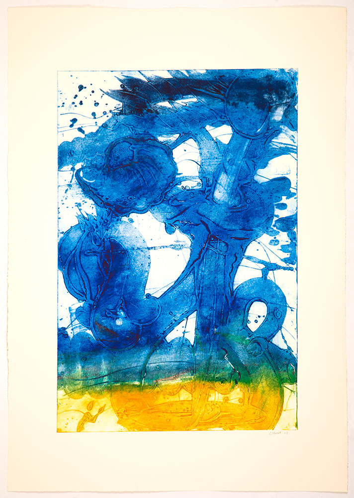 Bouquet (sunflower, Yellow To Blue) by Catherine Howe