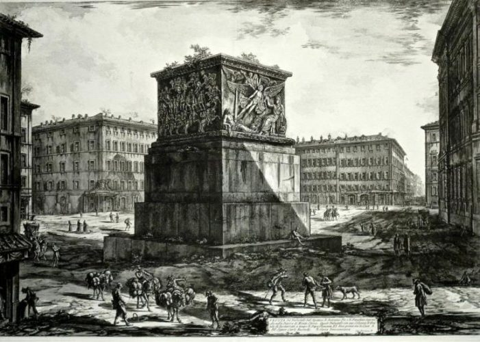 "Veduta Del Piedestallo Dell'aposteosi, From ""trofeo O Sia Magnifica Colonna Coclide̶... by Giovanni Battista Piranesi at"