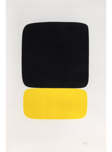 Black Over Yellow (noir Sur Jaune) From Suite Of Twenty-seven Color Lithograph by Ellsworth Kelly