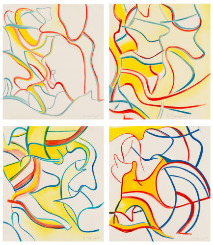 Quatre Lithographies by Willem De Kooning
