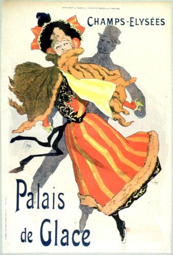 Les Palais De Glace Champs Elysées by Jules Cheret at