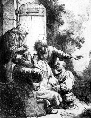 Joseph's Coat Brought To Jacob by Harmensz van Rijn Rembrandt