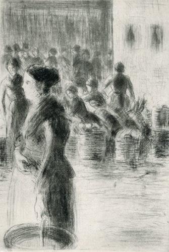 La Bonne Faisant Son Marché by Camille Pissarro at