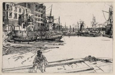 Eagle Wharf by James Abbott McNeill Whistler at